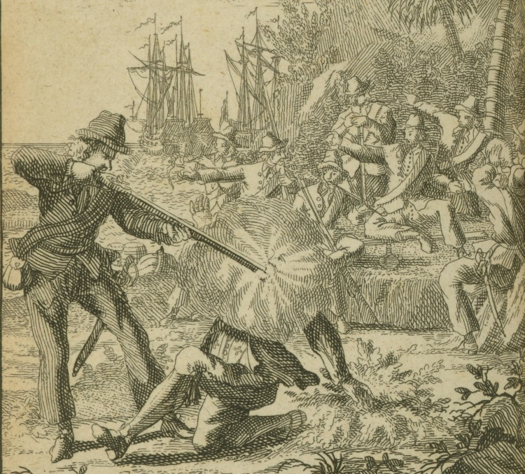 Pirate Edward Low Shoots a Man, 1725
