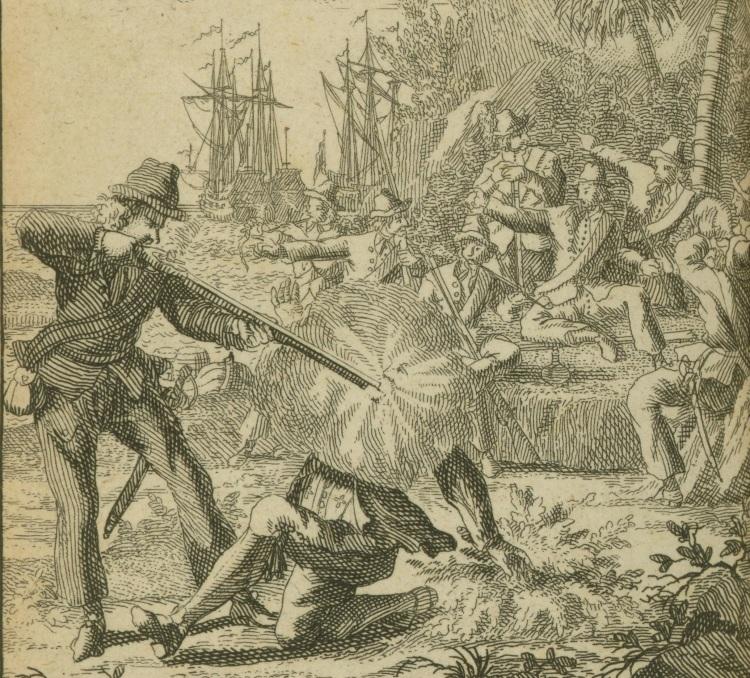 Pirate Edward Low Shoots a Man, 1725