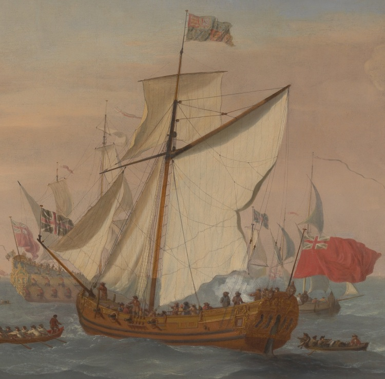 Ship in the Thames Estuary, 1708.