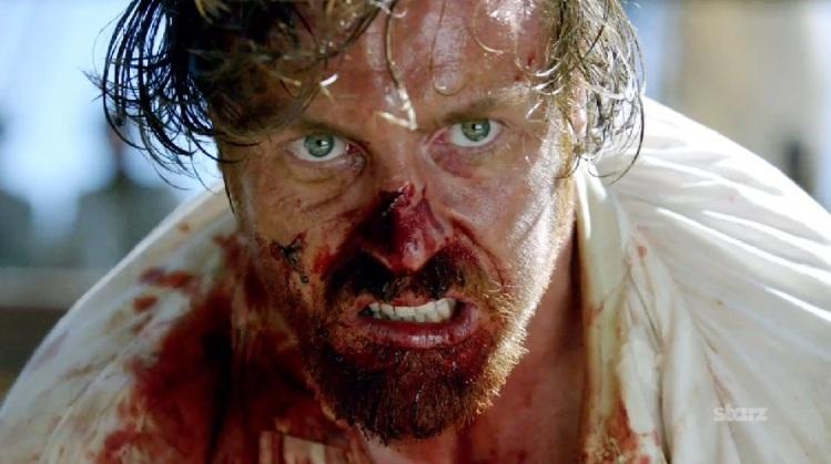 James Flint in season 1, episode 1 of Black Sails.